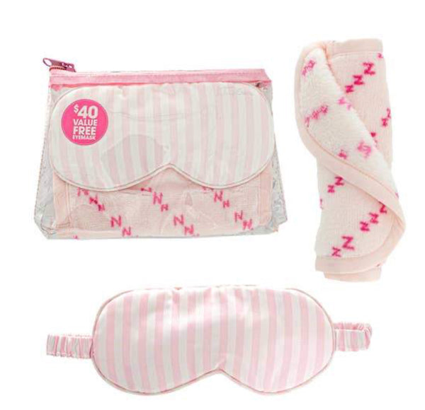 The Original Make Up Eraser ~ ZZZ ~ Light Pink With Satin Sleep Mask