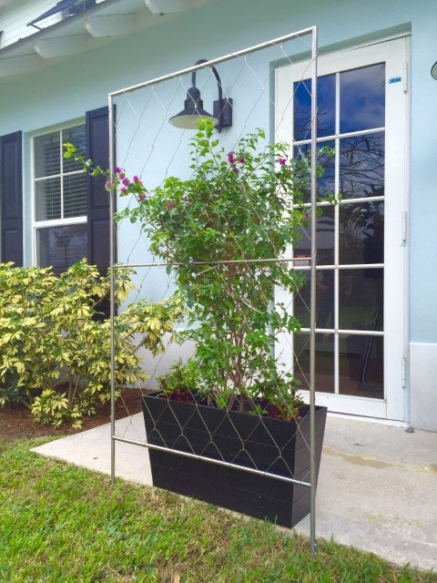 Ground Wire Color >> Free Standing Trellis Without Base – Jakob Rope Systems