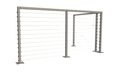 Cable Railing System with Posts