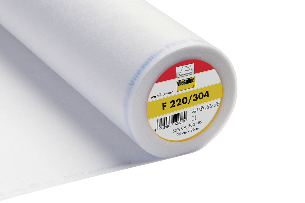 Vlieseline Fusible Interfacing - F220/304 - Iron on Standard - White