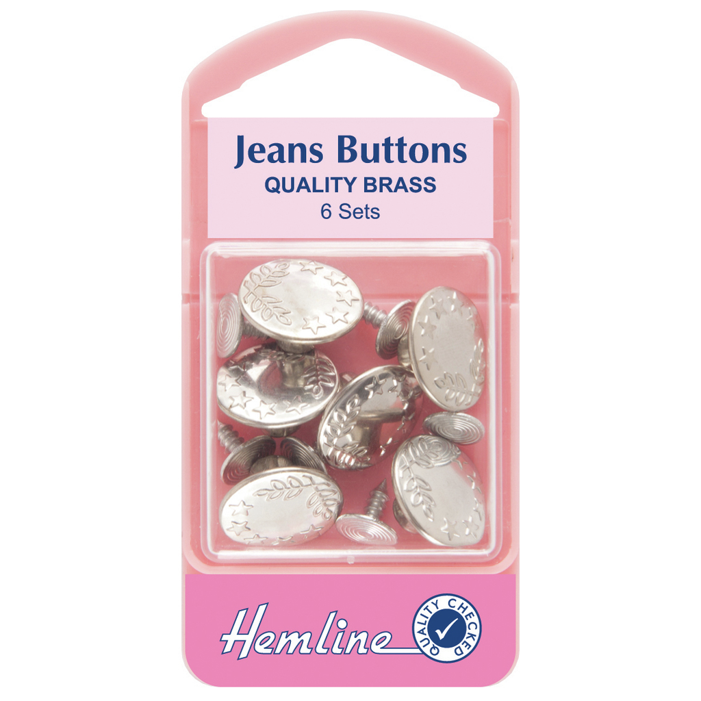Jeans Buttons: Nickel - 16mm