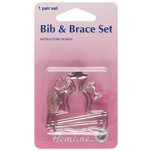 Bib and Brace Set: Nickel: 40mm