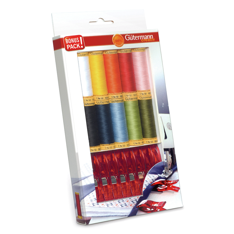 *NEW* Thread Gift Set: Natural Cotton: 100m & Fabric Clips