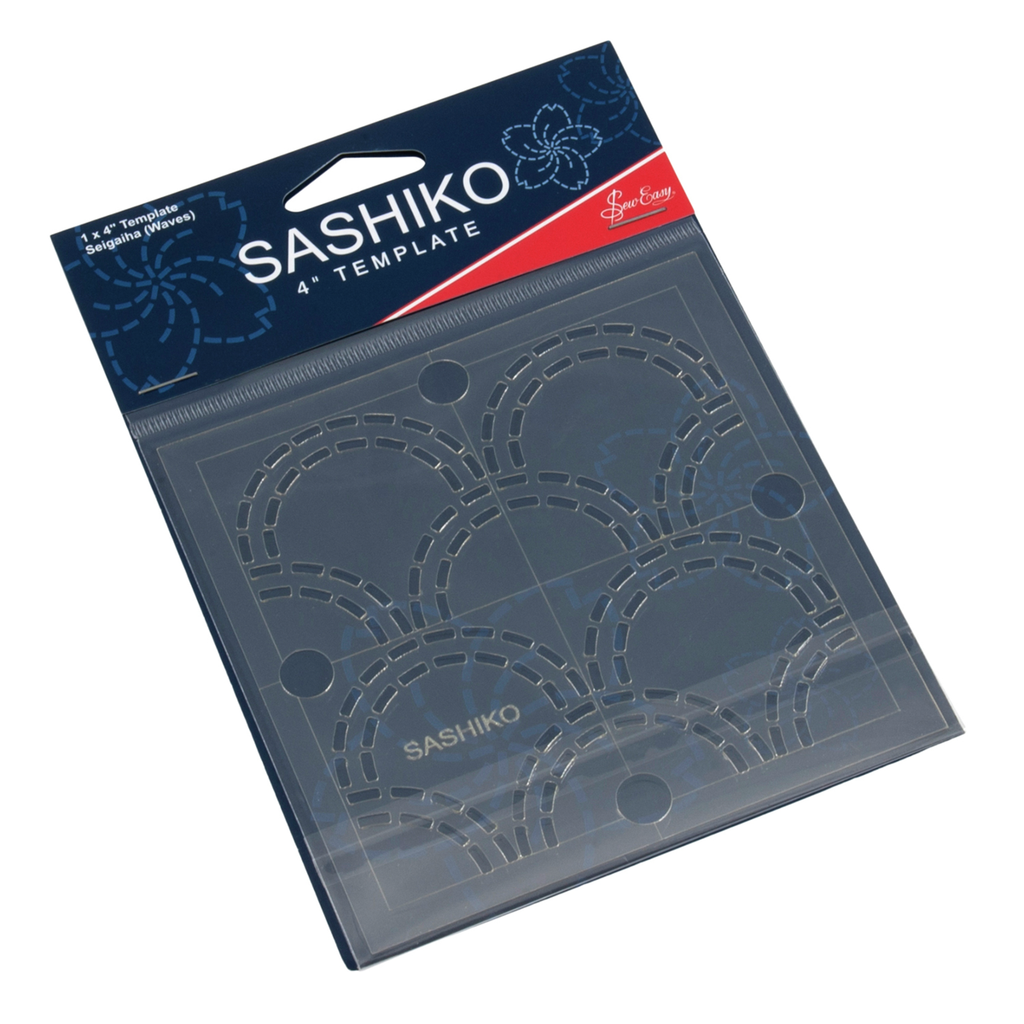 Sashiko: 4'' Template:  Seigaiha (Waves)