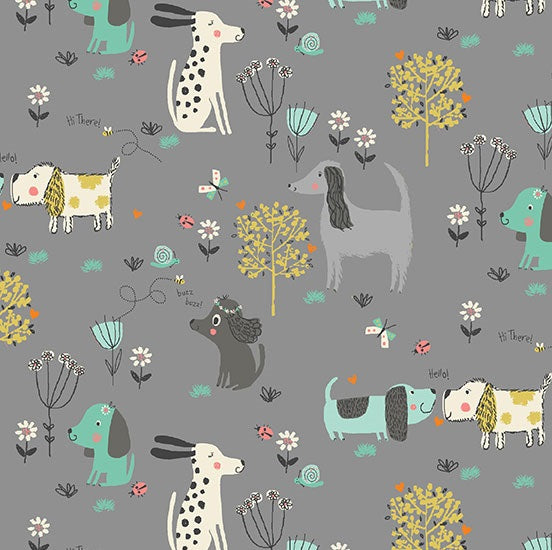 *NEW* A Walk In The Park - Dogs - Grey