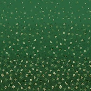 Ombre Snowflake - Green