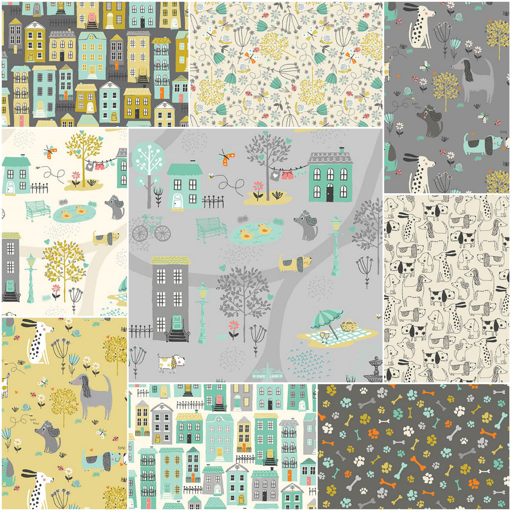*NEW* A Walk In The Park - Fat Quarter Pack (9)