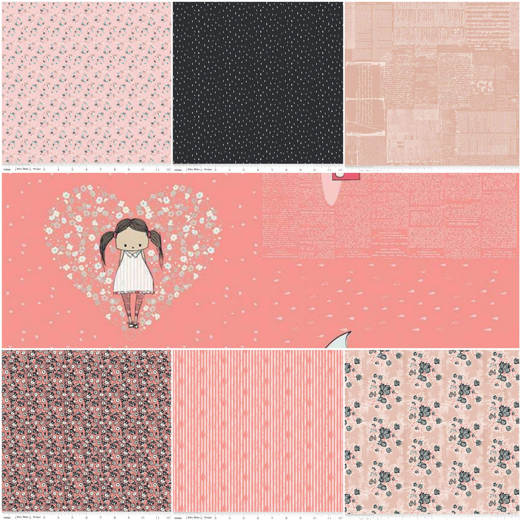*NEW* - Abbie - Fat Quarter Pack - Coral (7)