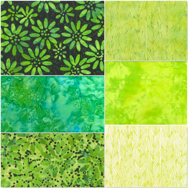 Anthology Batik - Fat Quarter Pack - Green (6)