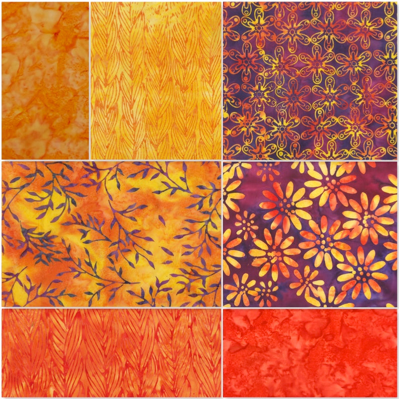 Anthology Batik - Fat Quarter Pack - Orange (7)