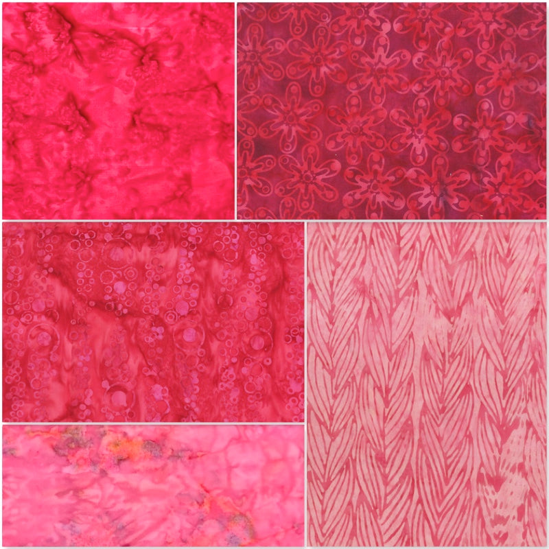 Anthology Batik - Fat Quarter Pack - Pink (5)