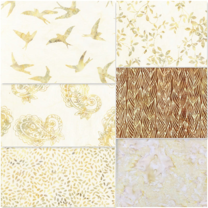 Anthology Batik - Fat Quarter Pack - Cream (6)