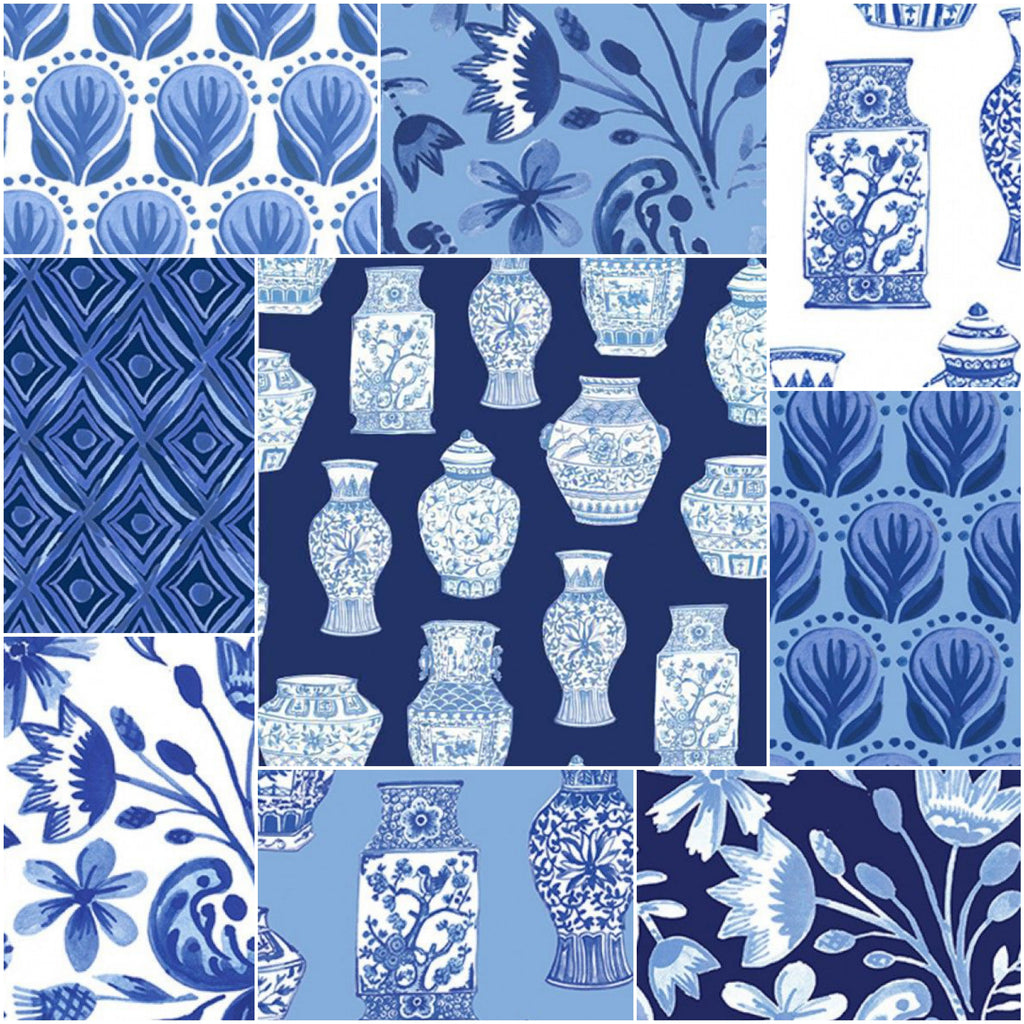 Blue Porcelain - Fat Quarter Pack (9)