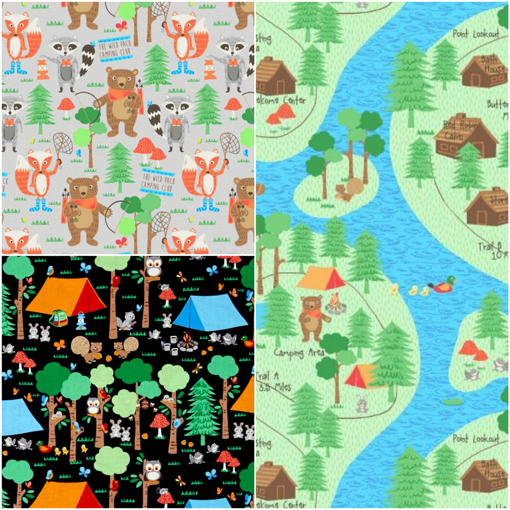 *NEW* - Camping Club - Fat Quarter Pack (3)