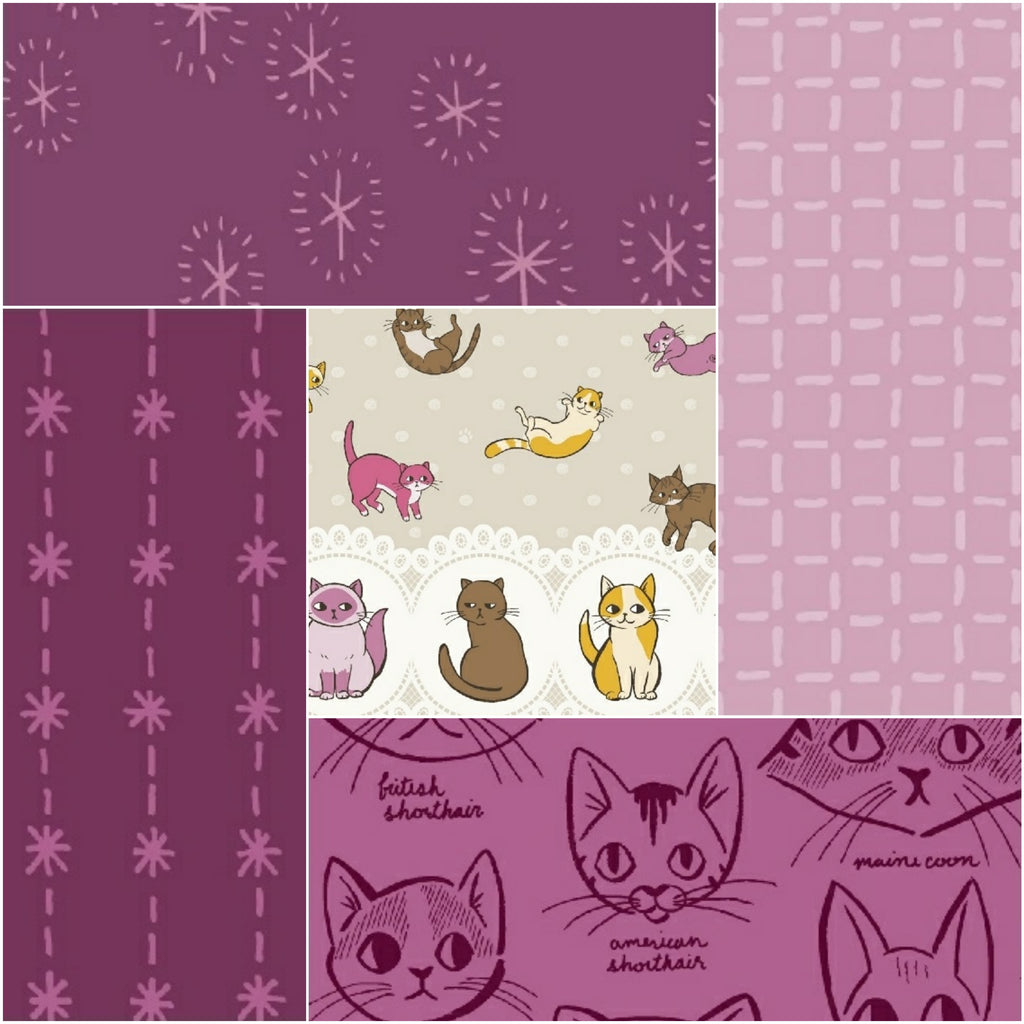 Caturday - Fat Quarter Pack (5)