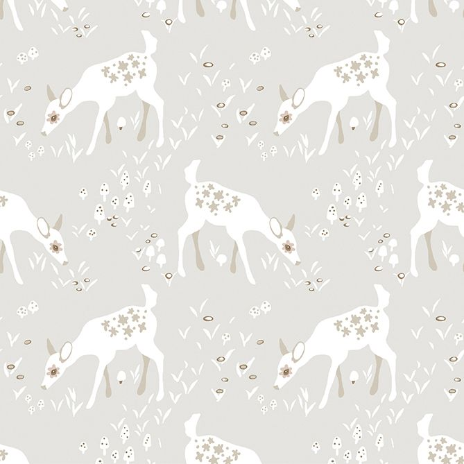 Woodland Gathering - Deer - Taupe