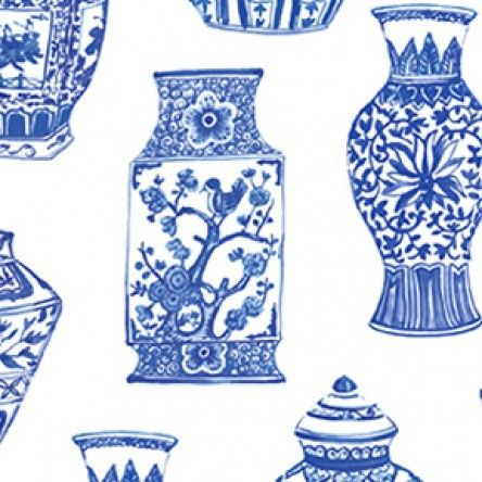 Blue Porcelain - Pottery - White