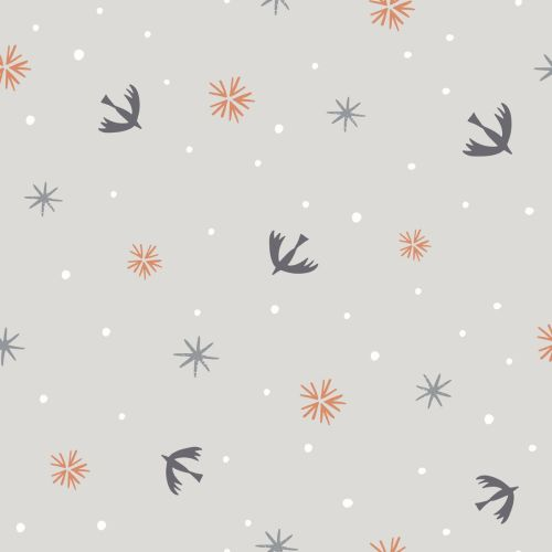 Winterfold - Swallows & Snowflakes - Copper Metallic