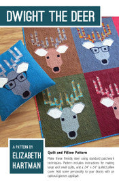 Elizabeth Hartman - Dwight The Deer - Quilt & Pillow Pattern