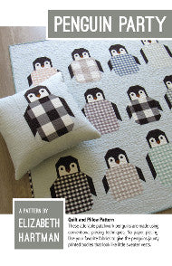 *NEW* Elizabeth Hartman - Penguin Party - Quilt & Pillow Pattern