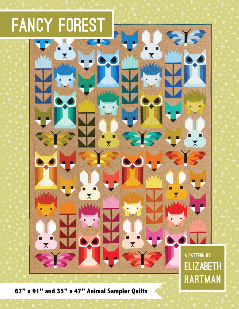 Elizabeth Hartman - Fancy Forest - Quilt Sampler Pattern