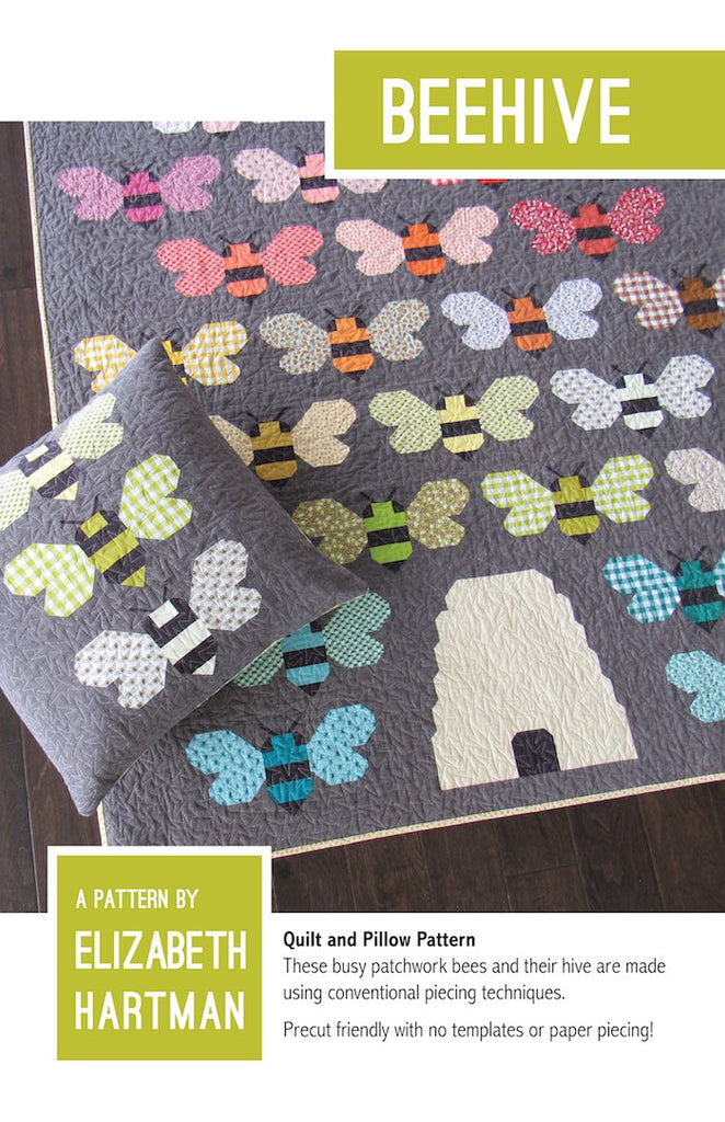 *NEW* Elizabeth Hartman - Bee Hive - Quilt & Pillow Pattern