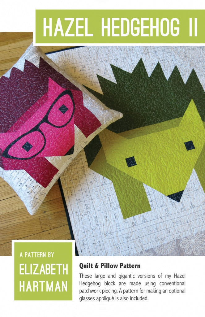 *NEW* Elizabeth Hartman - Hazel Hedgehog II - Quilt & Pillow Pattern