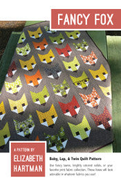 *NEW* Elizabeth Hartman - Fancy Fox - Baby, Lap & Twin Quilt Pattern