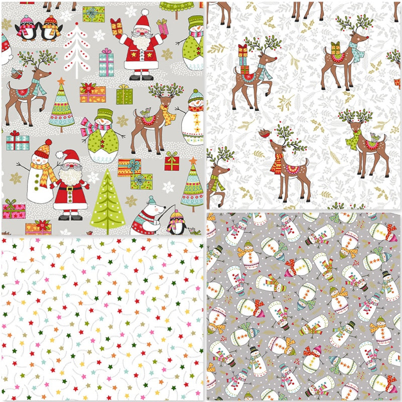 *NEW* Festive - Fat Quarter Pack (4)