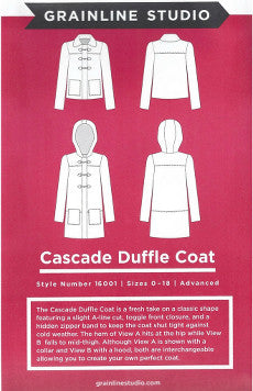 *NEW* Grainline Studio - Cascade Duffle Coat
