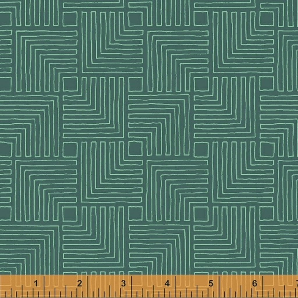 Good Vibes Only - Sassafras Lane Designs - Windham Fabrics - Echoes - Teal - 51109-24