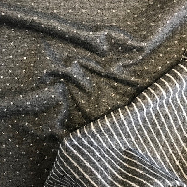 Quilt Look Jersey - Dark Grey with Silver