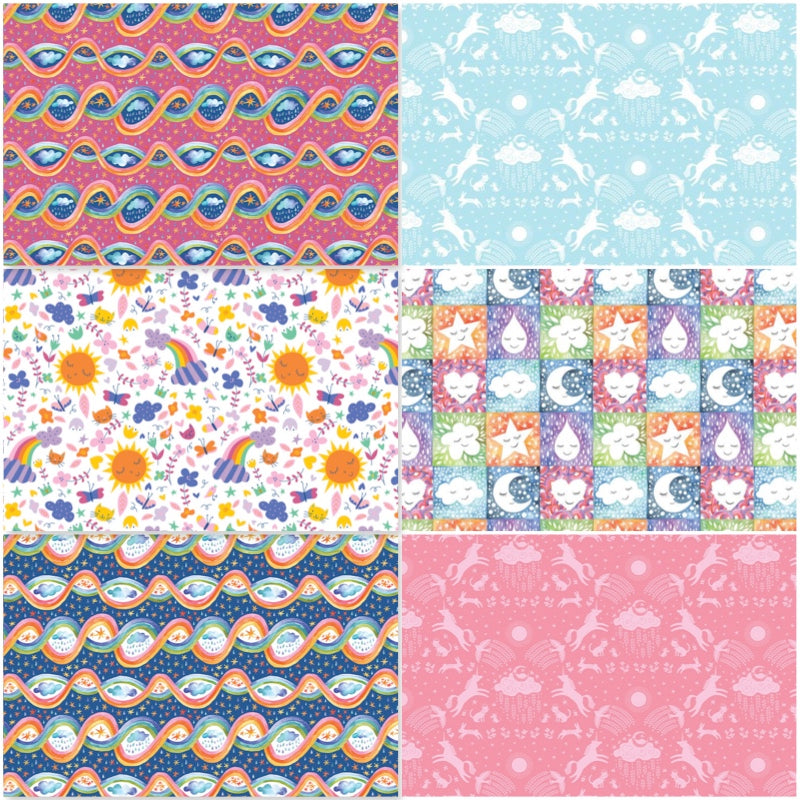 Happy Skies - Fat Quarter Pack (6)