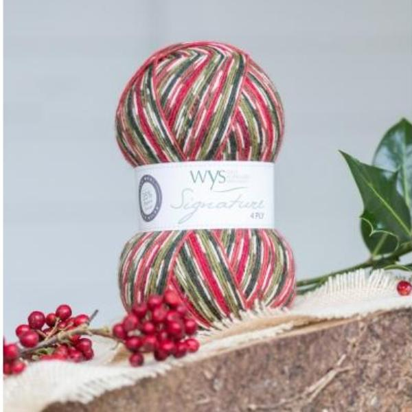 Signature 4ply - Holly Berry *Limited Edition Christmas Yarn*