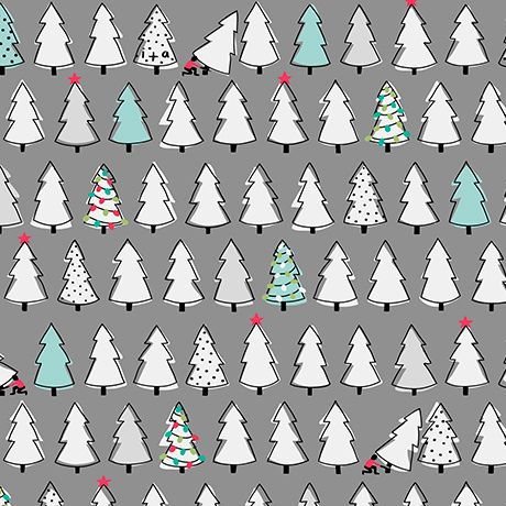 Mingle and Jingle - Christmas Trees - Dark Grey