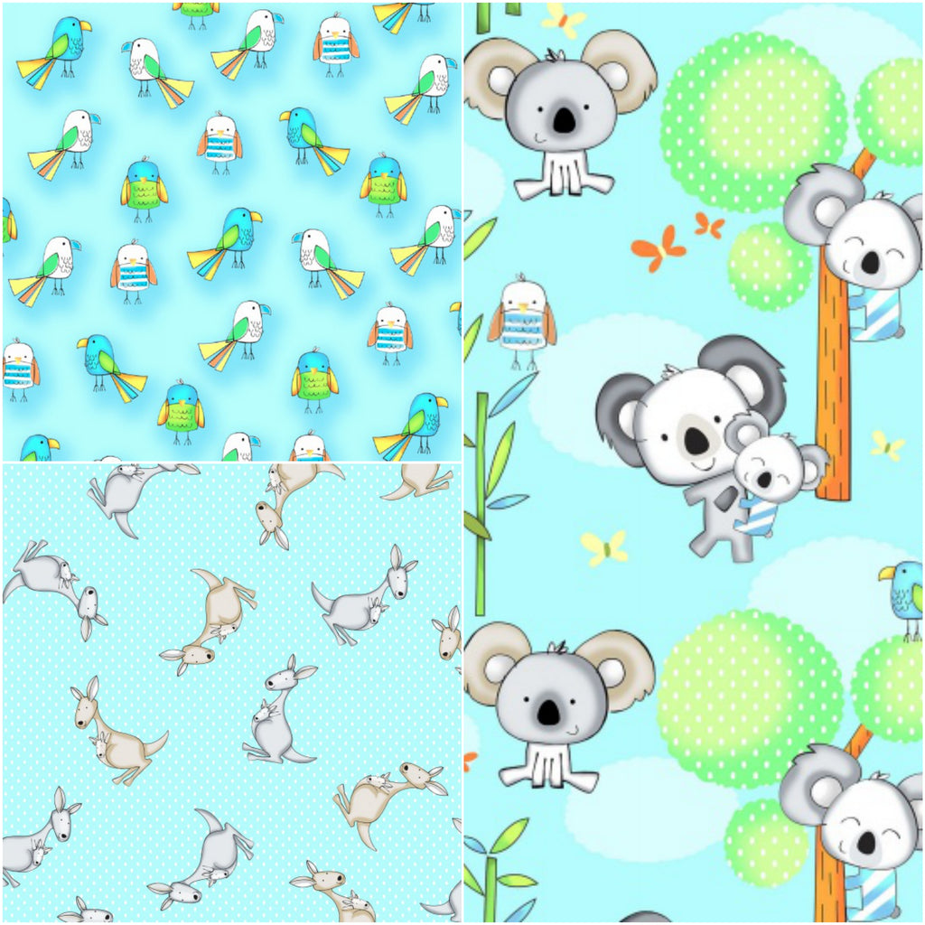 Koala Party - Fat Quarter Pack (3)