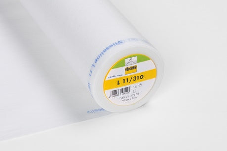 H47 - Vlieseline Sew-In Interfacing - L11/310 - Light - White (63cm End of Bolt)