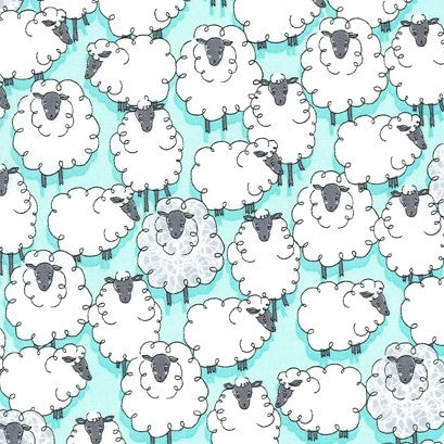 Eyes On Ewe - Sheepish - Aqua