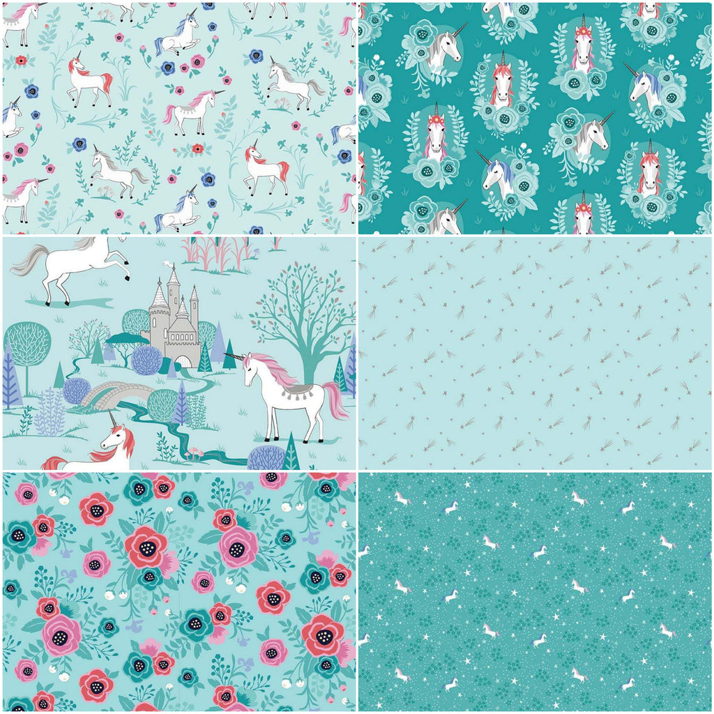My Unicorn - Fat Quarter Pack - Mint (6)