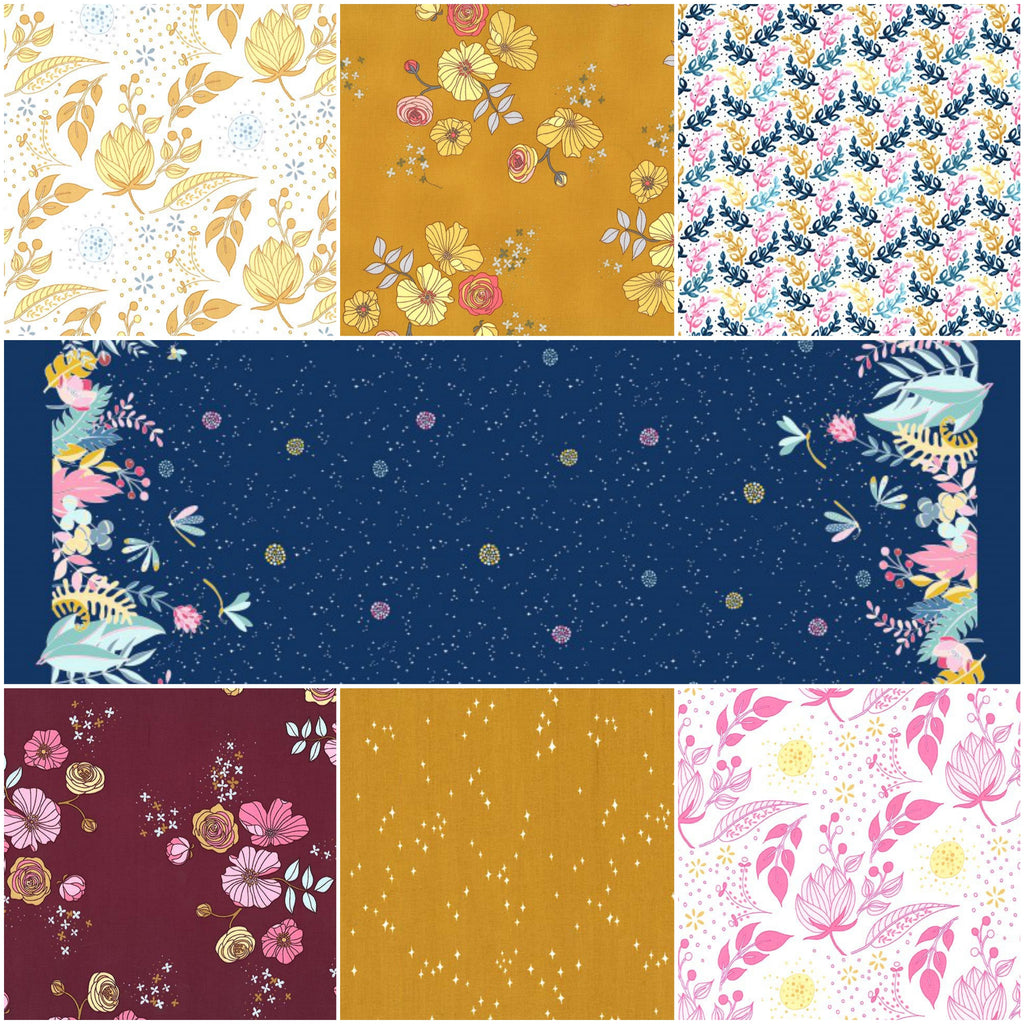 Night Garden - Midnight - Fat Quarter Pack (7)