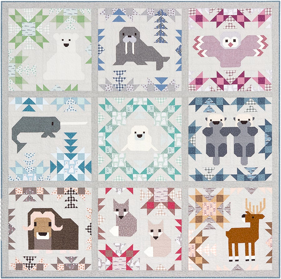 Elizabeth Hartman - North Stars - Animal Quilt Sampler & Pillow Pattern