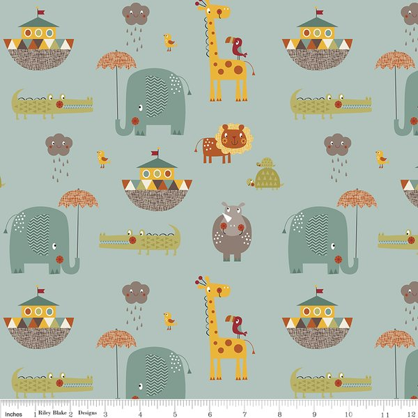Giraffe Crossing 2 - Main - Teal