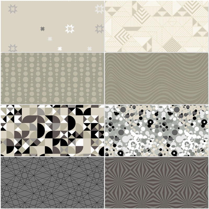 *NEW* Libs Elliot - Stealth Fat Quarter Pack - Canvas (8)