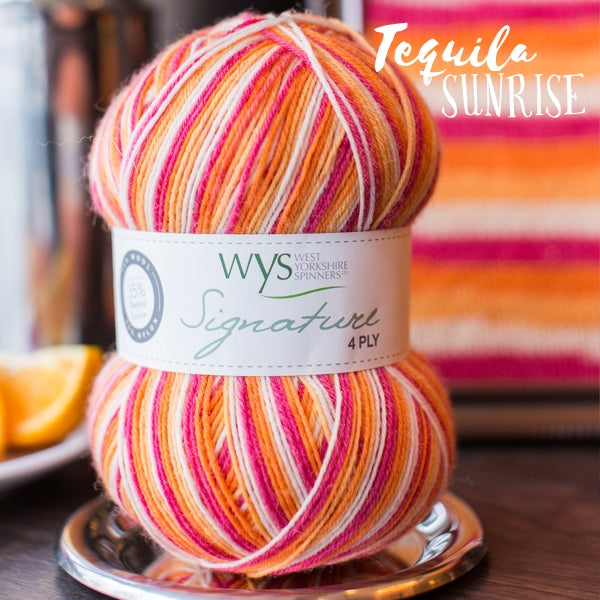 Signature 4ply - Tequila Sunrise