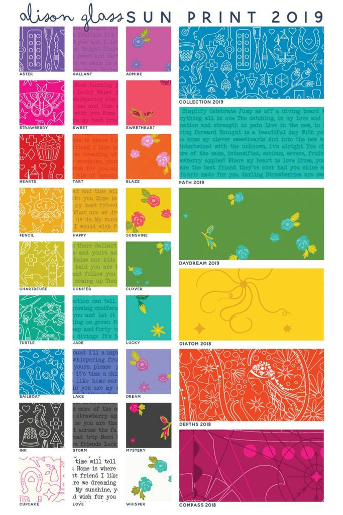 *NEW* Alison Glass - Fat Quarter Pack - Sunprints 19 (27)