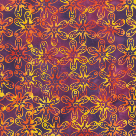 Anthology Batik - Beat Flower - Red Violet 342Q-1