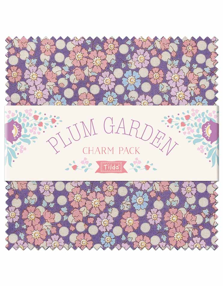 *NEW* Tilda Plum Garden Charm Pack (40)