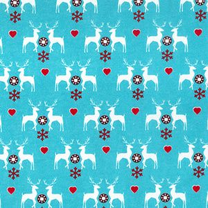 Christmas - Reindeer's - Blue