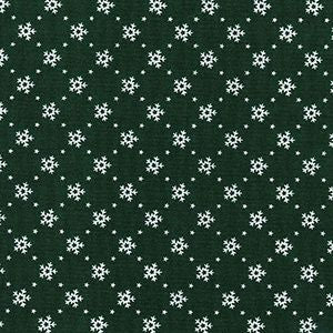Christmas - Mini Snowflakes - Green
