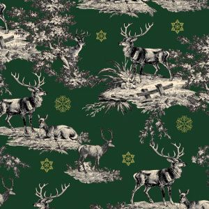 *NEW* Christmas - Stags Dream - Green